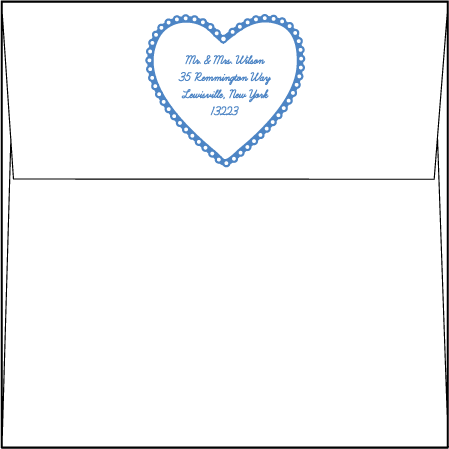 Sweet Heart Letterpress Envelope Design Medium