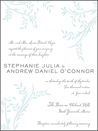 Sweet Laurel Letterpress Invitation Design Medium