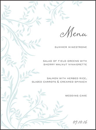 Sweet Laurel Letterpress Menu Design Medium