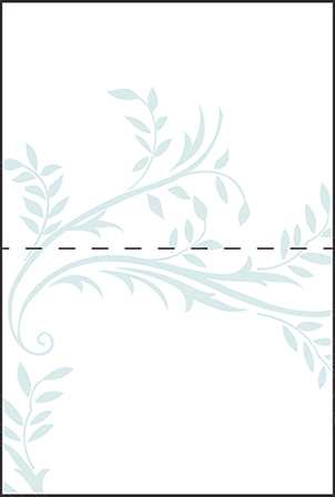Sweet Laurel Letterpress Placecard Fold Design Medium