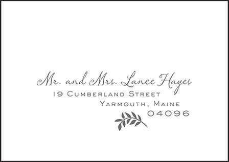 Sweet Laurel Letterpress Reply Envelope Design Medium