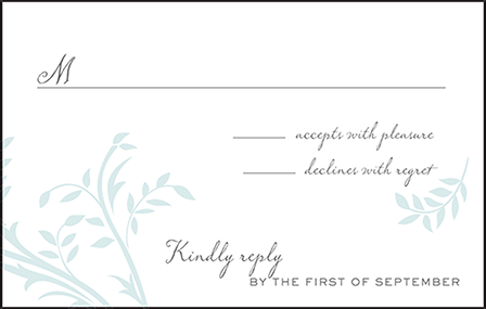 Sweet Laurel Letterpress Reply Postcard Front Design Medium