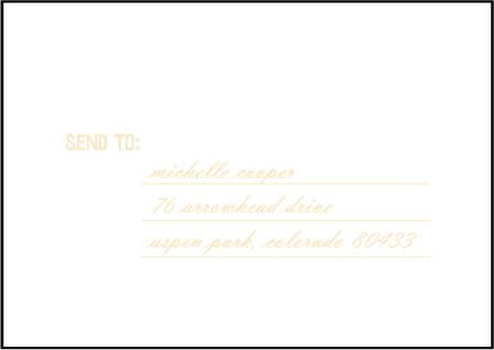 Sweet Lorna Letterpress Reply Envelope Design Medium