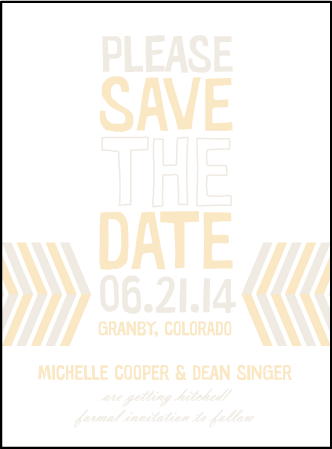Sweet Lorna Letterpress Save The Date Design Medium