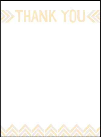 Sweet Lorna Letterpress Thank You Card Flat Design Medium