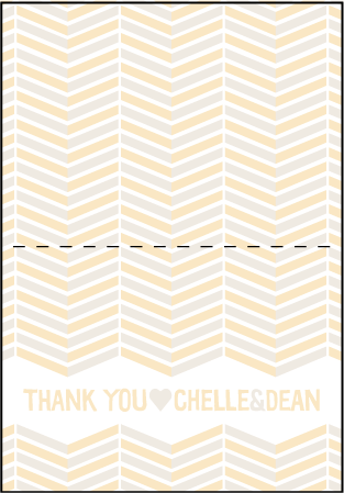 Sweet Lorna Letterpress Thank You Card Fold Design Medium