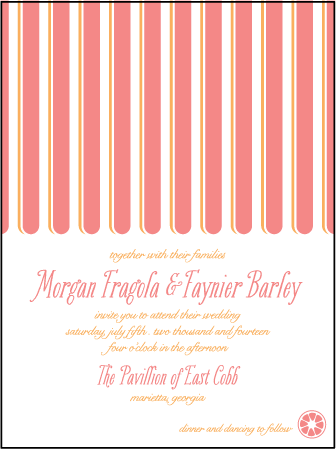 Sweet Summer Letterpress Invitation Design Medium