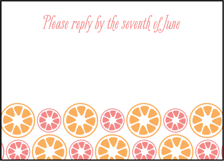 Sweet Summer Letterpress Reply Design Medium