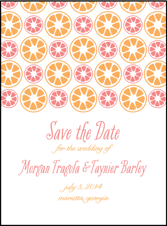 Sweet Summer Letterpress Save The Date Design Medium