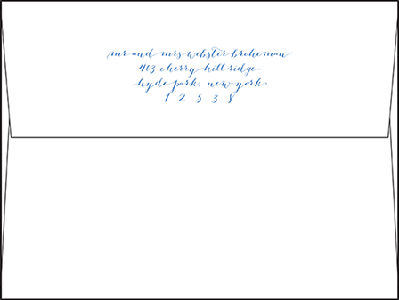Tailored Letterpress Envelope Design Medium