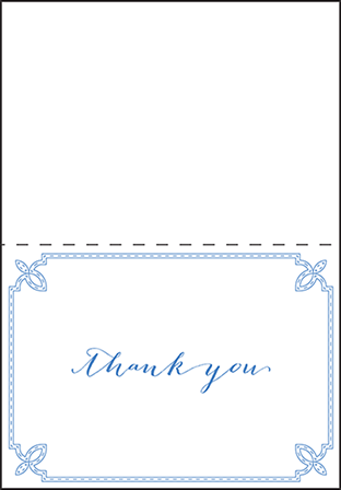 Tailored Letterpress Thank You Card Fold Design Medium
