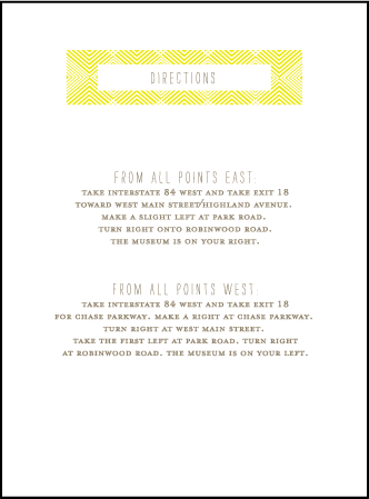 Tapestry Letterpress Direction Design Medium