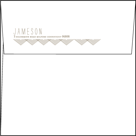 Tapestry Letterpress Envelope Design Medium