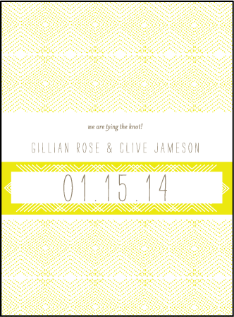 Tapestry Letterpress Save The Date Design Medium