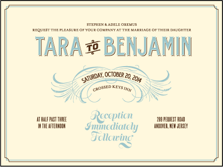 Tara Letterpress Invitation Design Medium