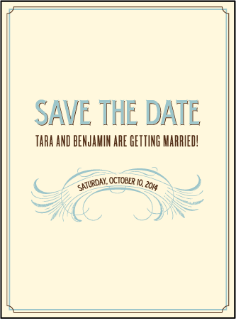 Tara Letterpress Save The Date Design Medium
