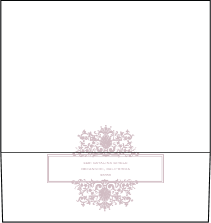 Tasha Letterpress Envelope Design Medium