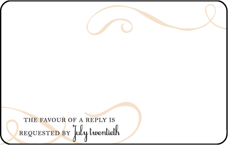 Tennyson Letterpress Reply Postcard Front Design Medium