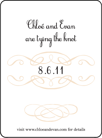 Tennyson Letterpress Save The Date Design Medium