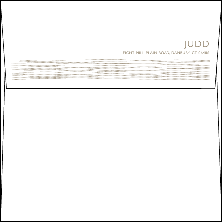 Threaded Letterpress Envelope Design Medium