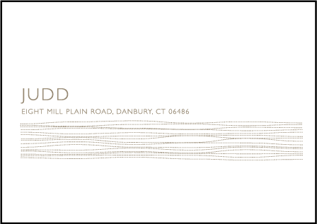 Threaded Letterpress Reply Envelope Design Medium