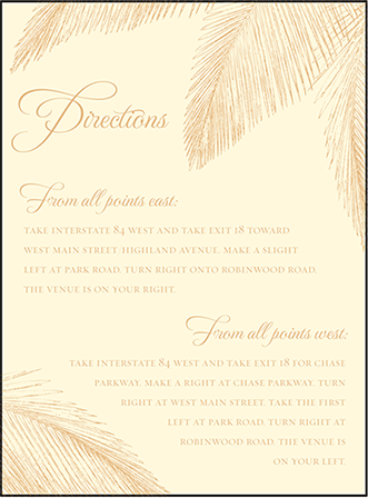 Traditional Palm Letterpress Direction Design Medium
