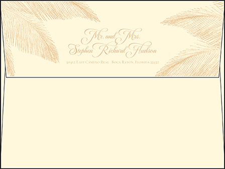 Traditional Palm Letterpress Envelope Design Medium