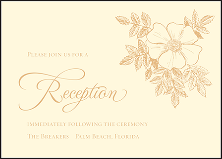 Traditional Palm Letterpress Reception Design Medium