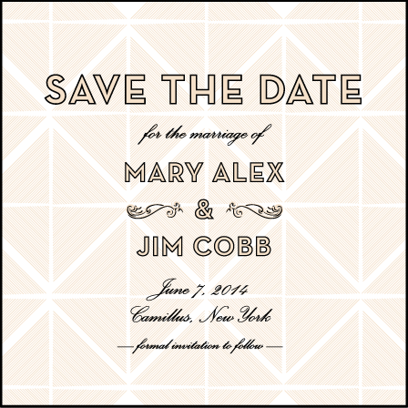 True Vintage Letterpress Save The Date Design Medium