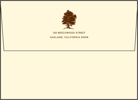 Under the Tree Letterpress Envelope Design Medium