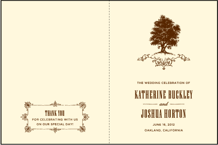 Under the Tree Letterpress Program Design Medium