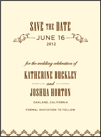 Under the Tree Letterpress Save The Date Design Medium