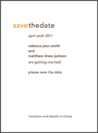 Union Letterpress Save The Date Design Medium