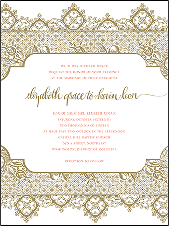 Ursula Letterpress Invitation Design Medium