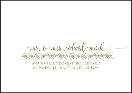 Ursula Letterpress Reply Envelope Design Medium