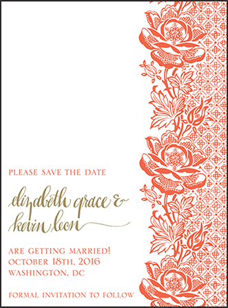 Ursula Letterpress Save The Date Design Medium