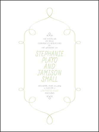 Vera Letterpress Invitation Design Medium