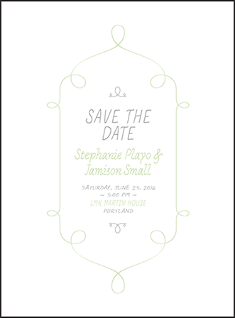 Vera Letterpress Save The Date Design Medium