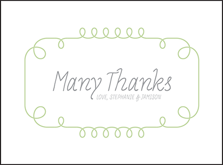 Vera Letterpress Thank You Card Flat Design Medium