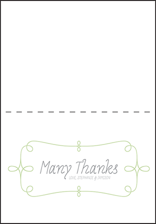 Vera Letterpress Thank You Card Fold Design Medium