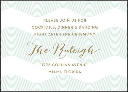 Viceroy Letterpress Reception Design Medium