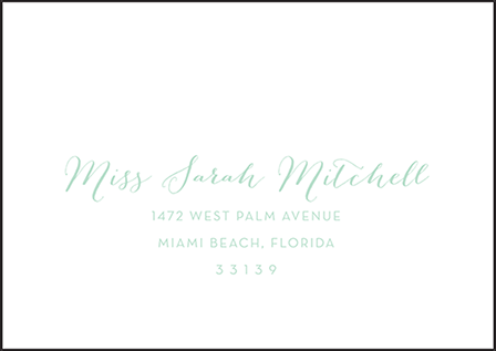 Viceroy Letterpress Reply Envelope Design Medium