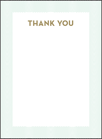 Viceroy Letterpress Thank You Card Flat Design Medium