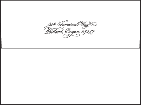 Victoria Calligraphy Letterpress Envelope Design Medium
