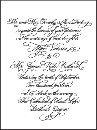 Victoria Calligraphy Letterpress Invitation Design Medium