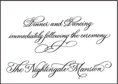 Victoria Calligraphy Letterpress Reception Design Medium