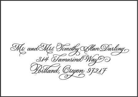 Victoria Calligraphy Letterpress Reply Envelope Design Medium
