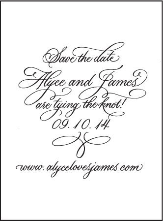 Victoria Calligraphy Letterpress Save The Date Design Medium