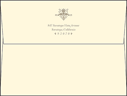 Victorian Elegance Letterpress Envelope Design Medium