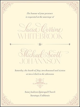 Victorian Elegance Letterpress Invitation Design Medium